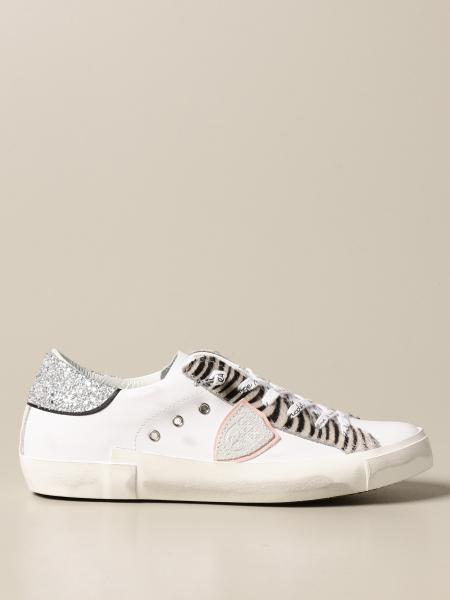 Sneakers Paris Philippe Model in pelle con dettagli animalier
