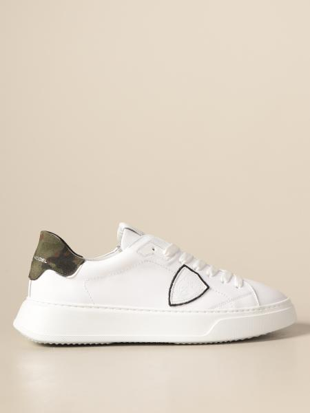 Philippe Model men: Temple Veau Philippe Model sneakers in leather