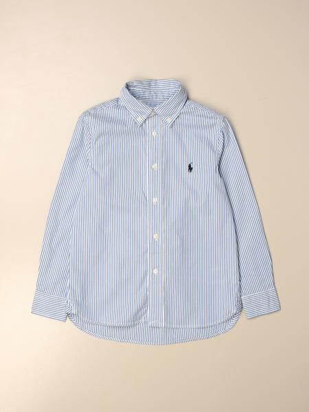 Camicia Polo Ralph Lauren Kid in cotone a righe