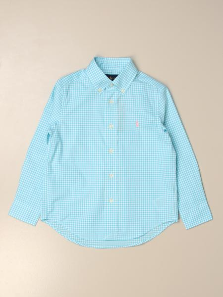 Camicia Polo Ralph Lauren Kid in cotone vichy