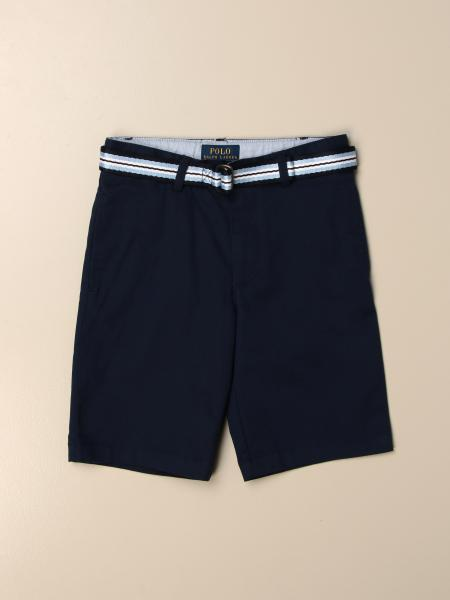 Polo Ralph Lauren Kid cotton shorts with striped belt
