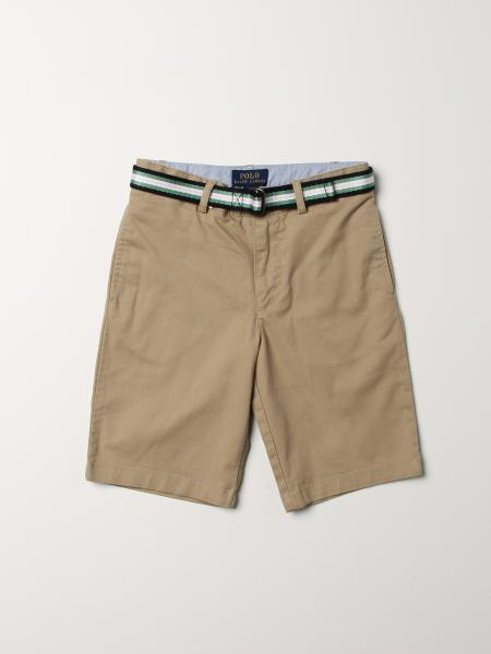 Polo Ralph Lauren Kid cotton shorts with striped belt
