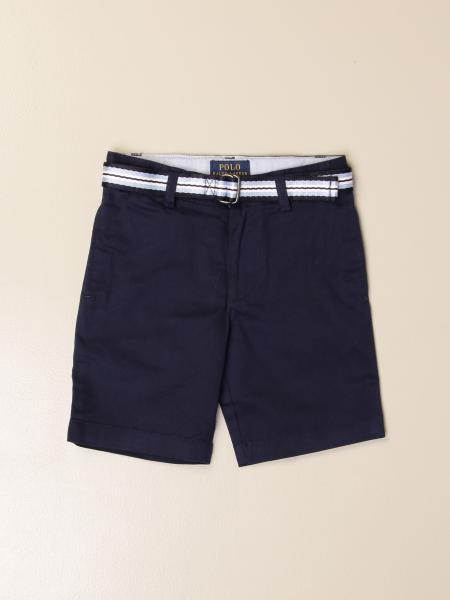 Polo Ralph Lauren Toddler shorts in cotton with striped belt
