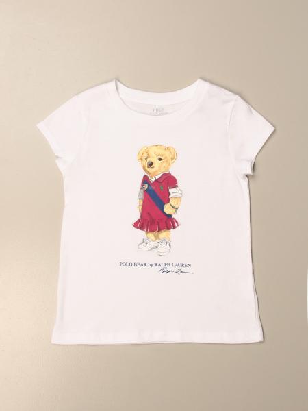 T-shirt Polo Ralph Lauren Toddler in cotone con stampa orso