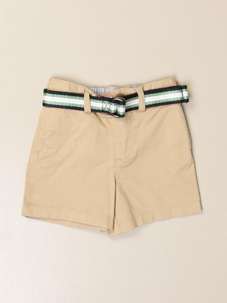 Polo Ralph Lauren Infant cotton shorts with striped belt