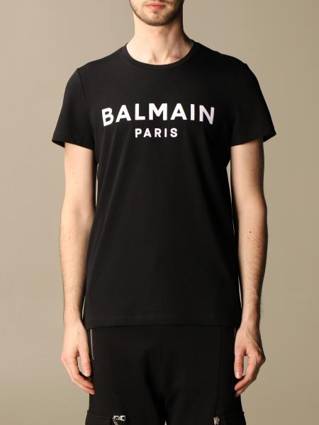 Balmain cotton T-shirt with flocked logo