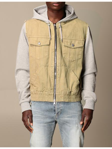 Balmain bomber jacket in cotton with hood
