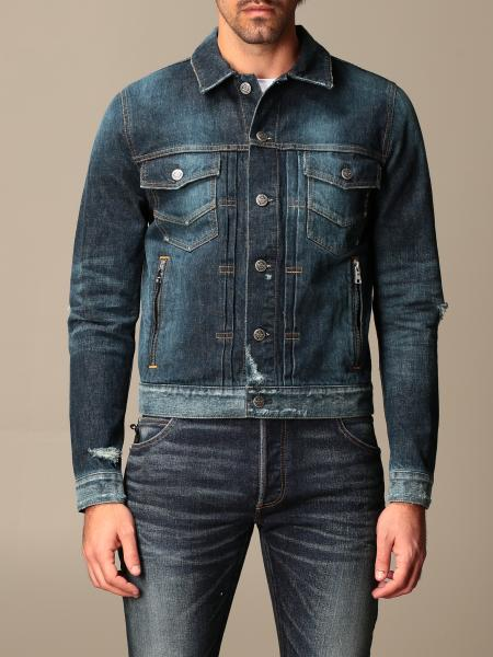Balmain denim jacket with zip