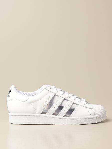 Adidas Originals Superstar sneakers in leather and pvc