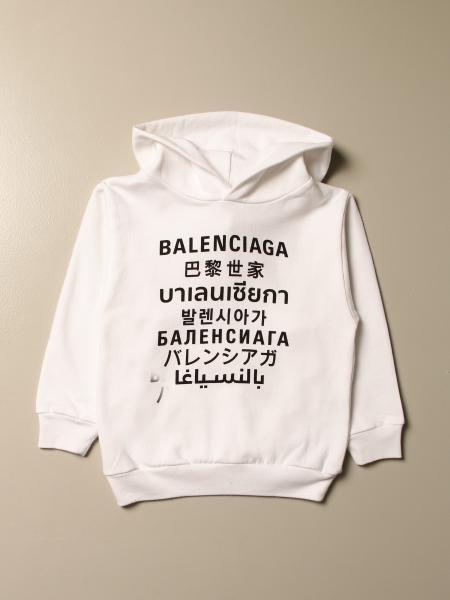 Balenciaga: Balenciaga cotton sweatshirt with multi-language print