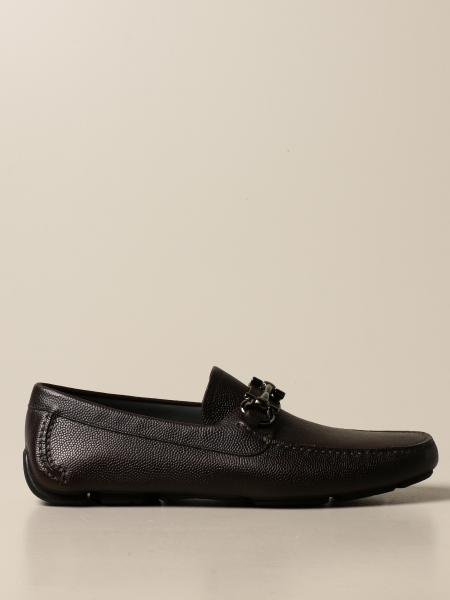 Salvatore Ferragamo men: Salvatore Ferragamo Paris Driver moccasin in leather with Gancini clamp