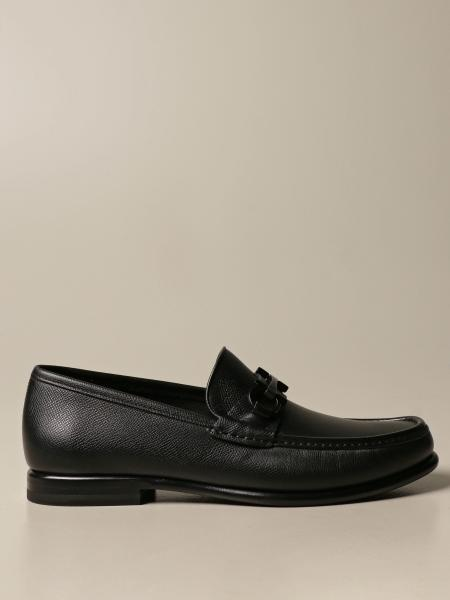 Salvatore Ferragamo men: Salvatore Ferragamo leather moccasin with Gancini horsebit