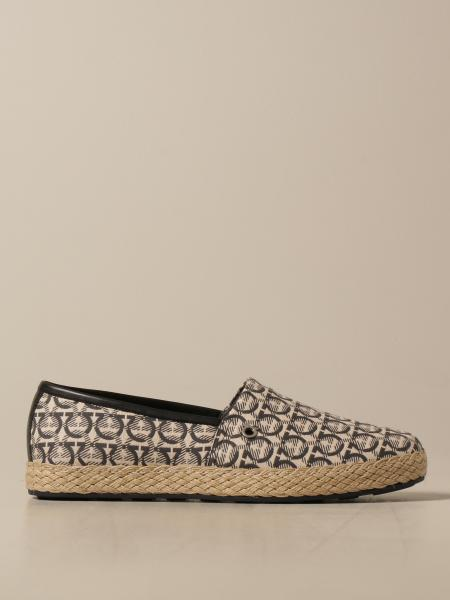 Tropea Salvatore Ferragamo espadrilles in cotton canvas and leather
