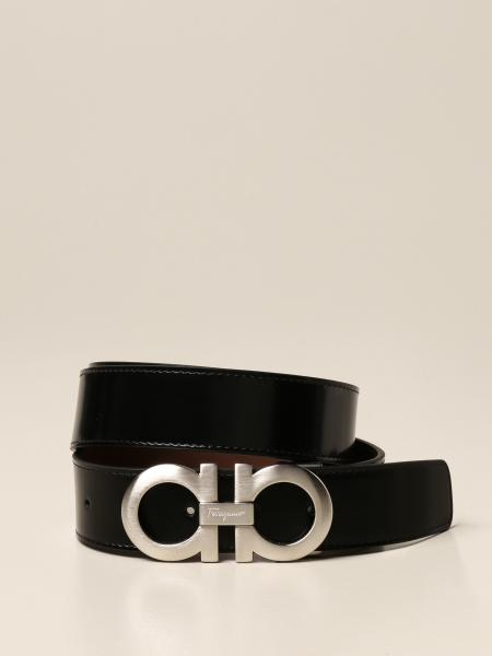 Salvatore Ferragamo men: Reversible Gancini Salvatore Ferragamo belt in leather
