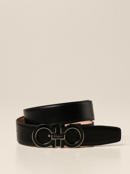 Salvatore Ferragamo men: Salvatore Ferragamo Gancini leather belt