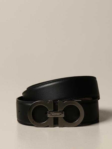 Reversible Gancini Salvatore Ferragamo belt in leather