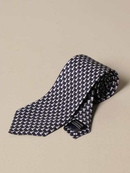 Salvatore Ferragamo: Salvatore Ferragamo silk tie with dog pattern