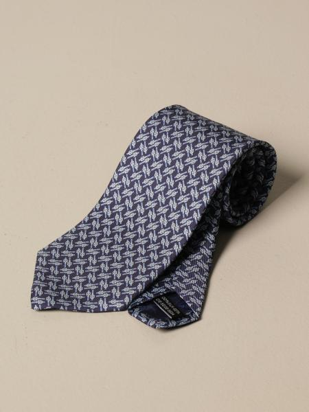 Salvatore Ferragamo: Salvatore Ferragamo silk tie with Gancini pattern