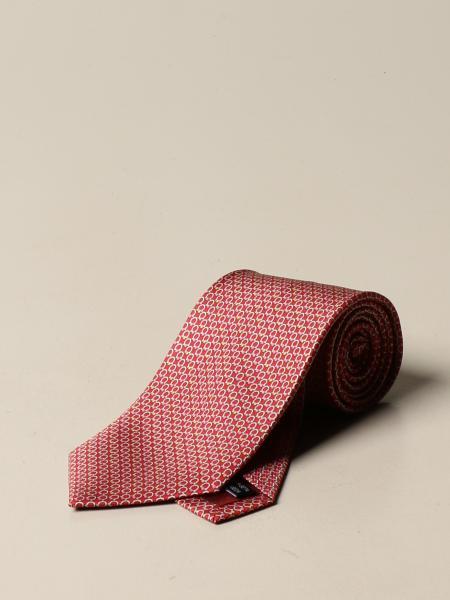 Salvatore Ferragamo uomo: Cravatta Salvatore Ferragamo in seta con fantasia Gancini