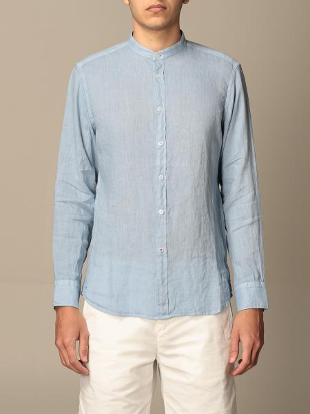Baronio men: Baronio Korean shirt in linen