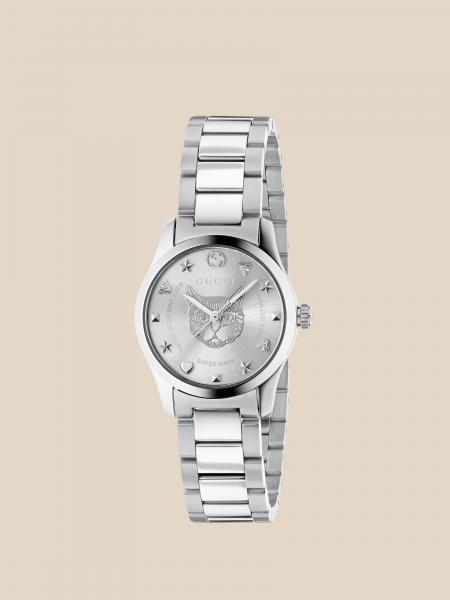 Metallic Gucci watch