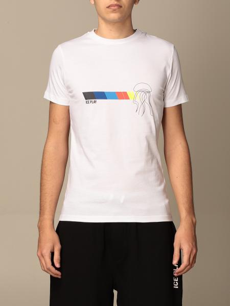 T-shirt Ice Play in cotone con stampa logo