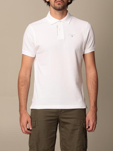 Barbour polo shirt in pique cotton with logo