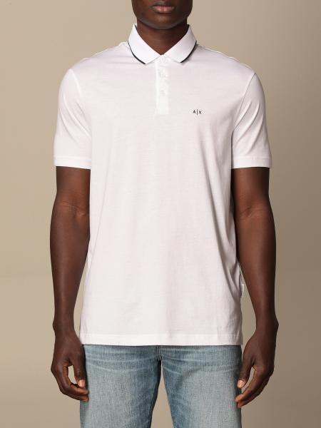 Armani Exchange basic cotton polo shirt