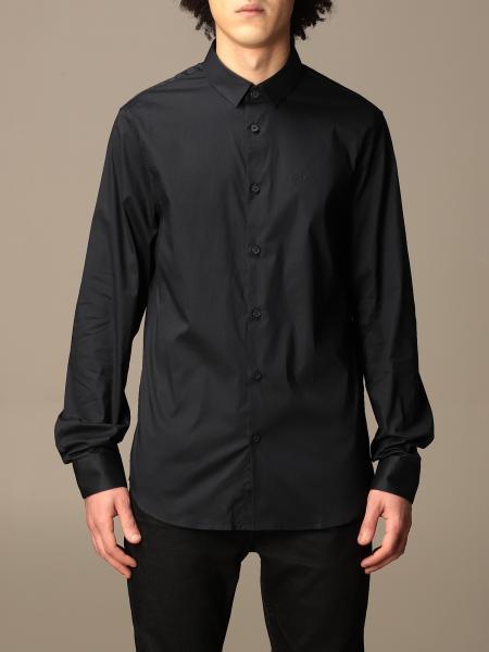 Armani Exchange shirt in stretch poplin
