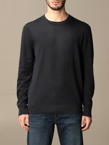 Armani Exchange crewneck sweater in cotton and linen