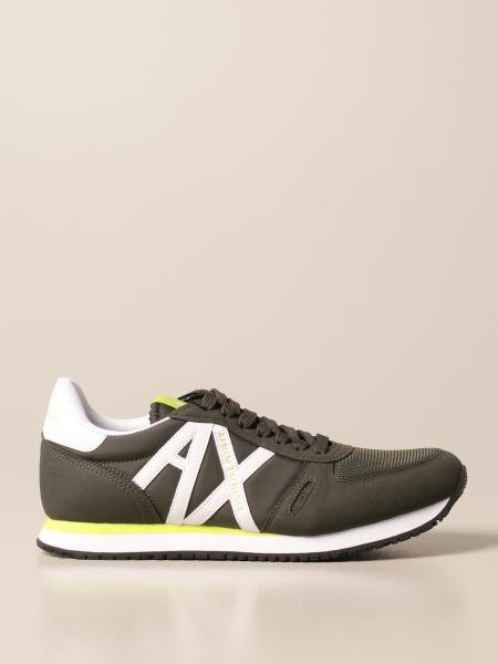 Sneakers Armani Exchange basic con logo a contrasto