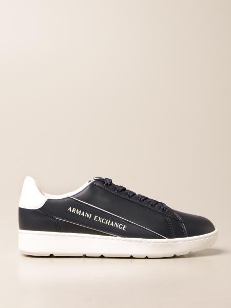 Sneakers Armani Exchange in pelle sintetica con logo