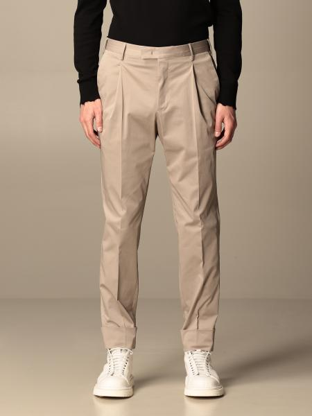 Pantalone classic PT in gabardine stretch con pince