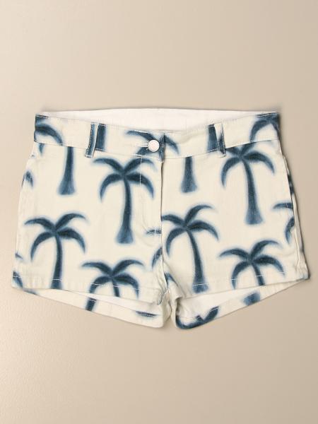 Stella Mccartney: Stella McCartney denim shorts with all-over palms