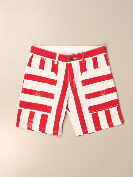 Stella McCartney denim bermuda shorts with two-tone bands