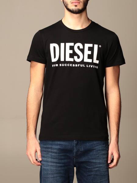 Diesel men: Diesel cotton t-shirt with logo