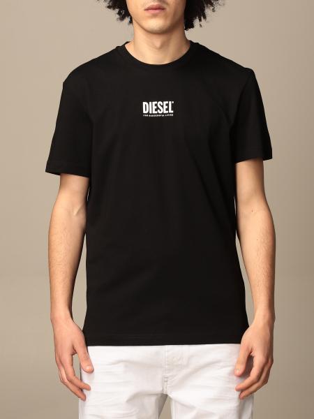 Diesel cotton t-shirt with logo print