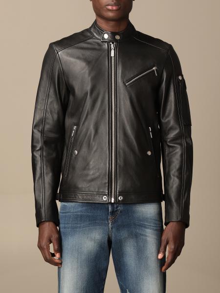 Diesel leather jacket with zip