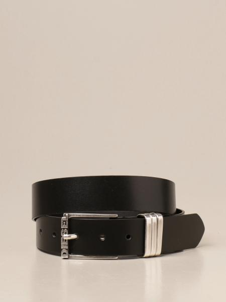 Cintura Diesel in pelle con logo
