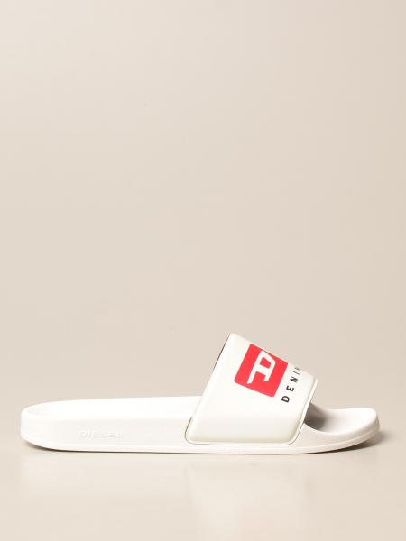 Diesel sandal in rubber with logo