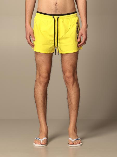 Costume a boxer Diesel Beachwear in nylon con logo