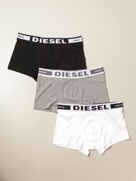 Diesel Underwear: Set 3 mutande a parigamba Diesel Underwear con logo