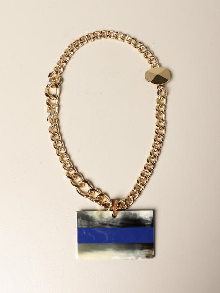 Allujewels: Yellow gold Allu 'jewels chain with pendant