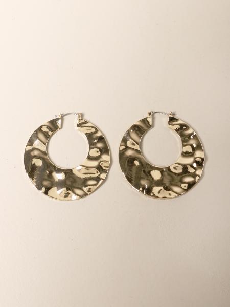 Allujewels: Allu 'jewels hoop earrings in hammered gold