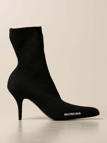 Balenciaga: Balenciaga ankle boot in recycled stretch knit