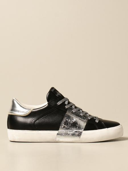 Crime London sneakers in leather with laminated band