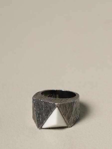 Anello Prismatic Rock Rockyourmind in argento