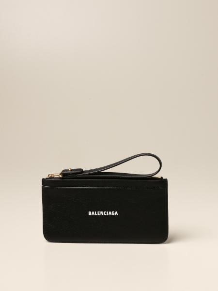Balenciaga: Balenciaga leather wallet with zip