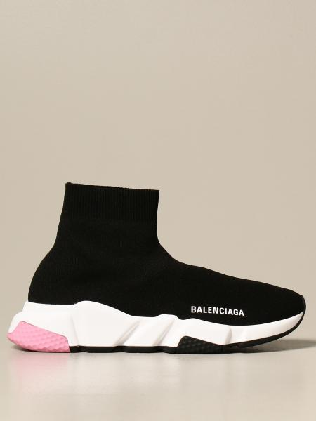 Balenciaga donna: Sneakers Speed Balenciaga a calza knit sole
