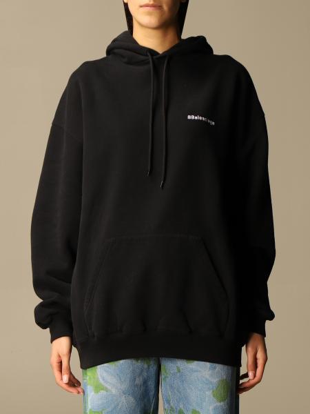 Balenciaga women: Balenciaga cotton sweatshirt with logo